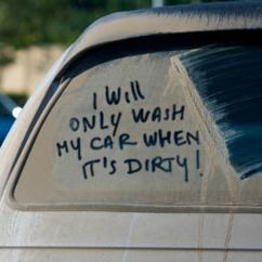 Voi spăla mașina doar când e murdară