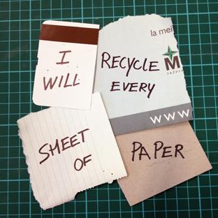 Voi recicla fiecare bucatica de hartie