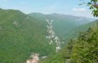 Muntii Cernei si Valea Cernei - imagine de pe traseul spre Crucea Alba (Domogled)