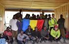 Echipa romaneasca si ajutoarele lor africane