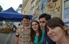 Echipa Greenly din prima zi SD: Sinziana-Kiti, Ionut, Alexandra si Teo
