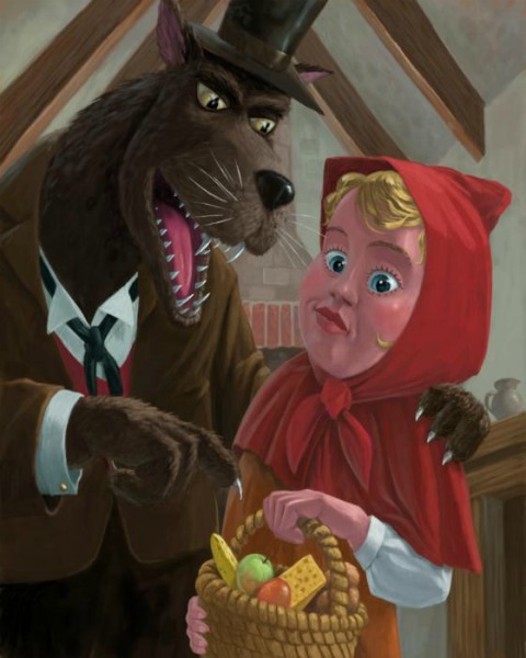 Little Red Riding Hood, the bio food basket and the wolf!