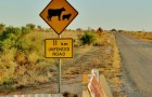 Cow and sheep road sign in Australia