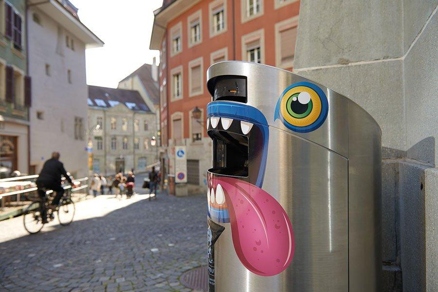 Nourrissez les poubelles! Lausanne