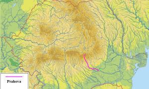 Figura 1. Localizarea râului Prahova în cadrul României Sursa: Topsy.fr